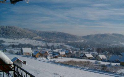 Widoki z balkonu zima